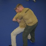 Demonstrating Counter to Bear Hug Arms Not Caught - Basic Self Defense